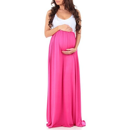 Clothes for Pregnant Women Dress Long Nursing Pregnancy Solid Tank Dress Flower photography Clothing Party Maternity dresses