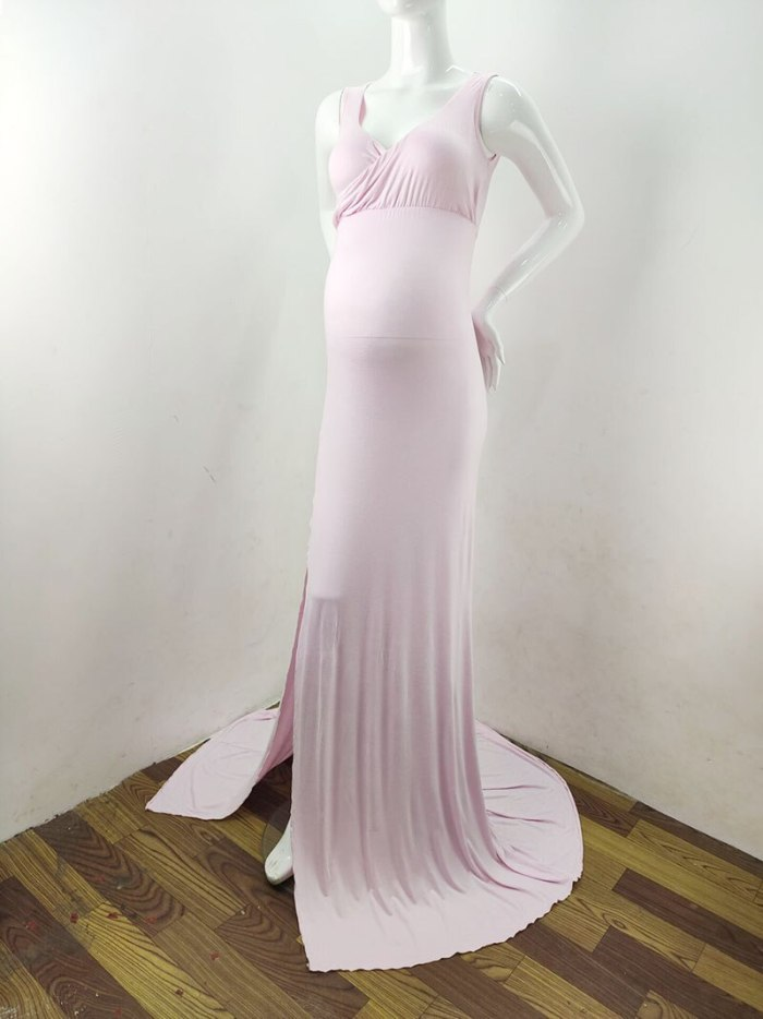 Pregnancy Photo Shooting Long Dress Baby Shower Dress For Pregnant Women Gowns Maternity Photography Cotton Maxi Dress Vestidos