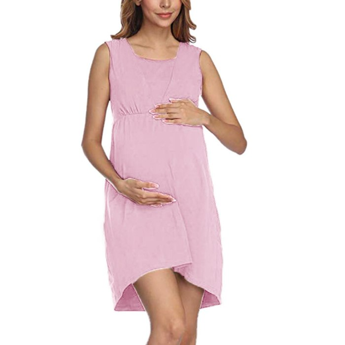 2021 new Round neck sleeveless dress Fashionable pregnant women clothing Breastfeeding dress pregnancy dress