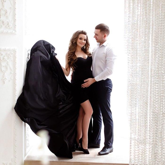 New V-Neck Tube Top Dress Women Maternity Dress Hem Slit Tailing Long Dress Photography Photo Dress For Pregnant Women CLothes