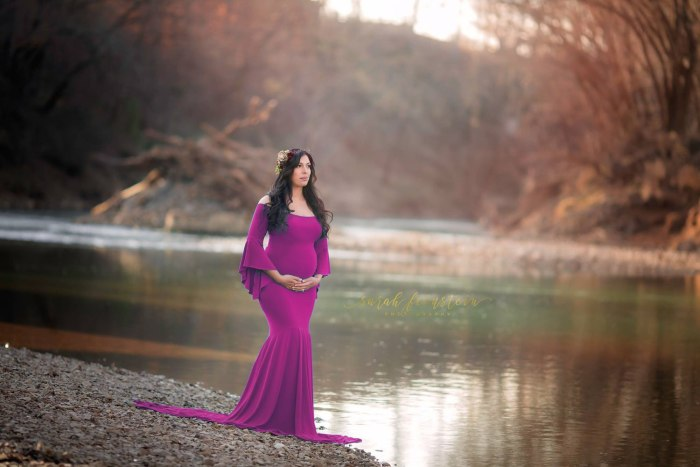 Maternity Women Dress Spring/autumn S-l Female Dresses Three Quarter Sleeve Mermaid Solid Color Ankle-length Ladies Clothes