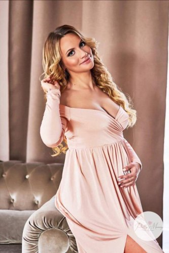 Long Shoulderless Maternity Photography Props Dresses Sexy Split Front Pregnancy Dress Photo Shoot For Pregnant Women Maxi Gown