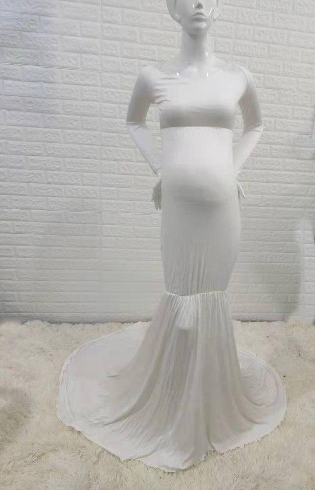 Mermaid Maternity Dresses Photo Shoot Pregnant Women Pregnancy Cotton Dress Photography Props Sexy Maxi Maternity Gown Vestidos