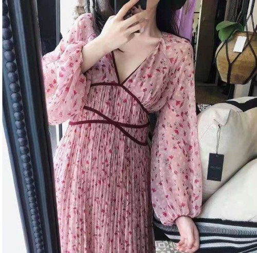 Maternity Women Casual Stitching Color Dress