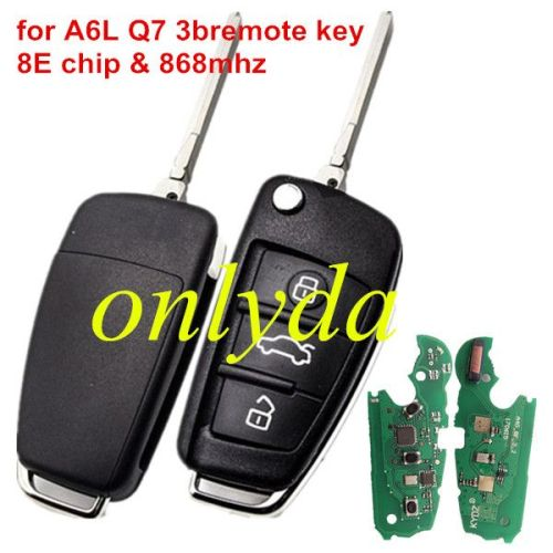 for Audi A6L Q7 3B remote key with 8E chip-868mhz FSK model