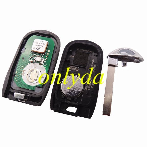 Keyless Smart 3+1B remote key with PCF7952E chip- 314.9mhz ASK model