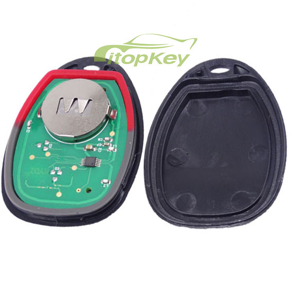 For Buick 3+1 Button remote key with FCCID KOBGT04A -315mhz