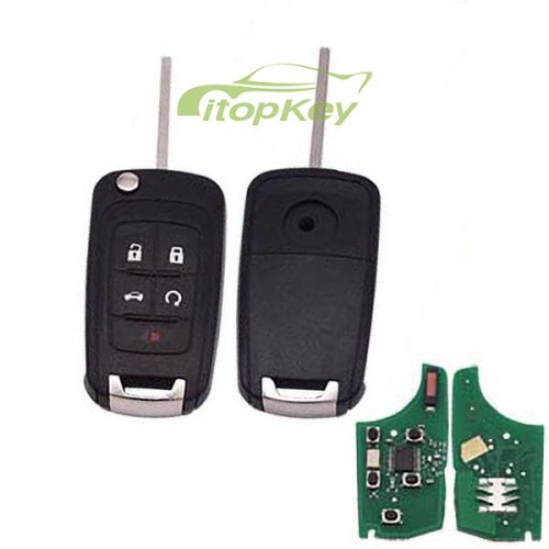 For Buick unkeless 4+1B remote key 7941chip-315mhz