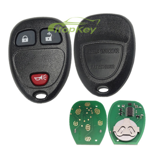 For Buick 2+1 Button remote key with FCCID KOBGT04A -315mhz