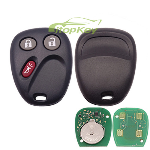 For Buick 3 button remote key with 315MHZ D BOARD FCCID =K0BUT1BT