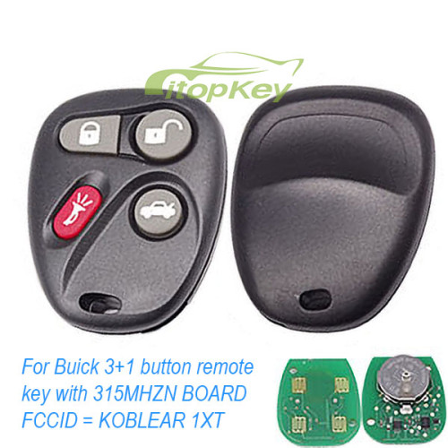 For Buick 3+1 b remote 315MHZ D BOARD FCCID = K0BUT1BT