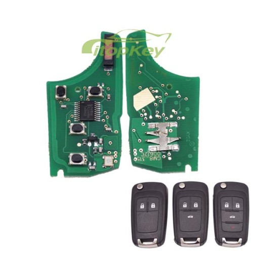 For Buick unkeyless remote 434MHZ 7941chip 2;3;3+1button key, please choose