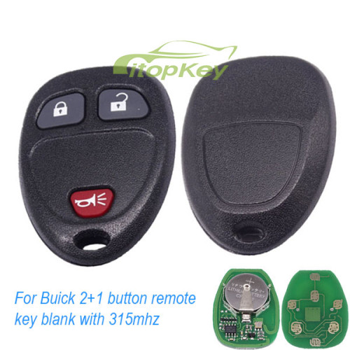 For Buick 2+1 button remote key blank with 315mhz