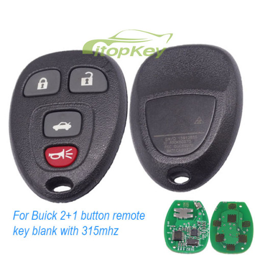 For Hummer and Enclave 3+1B remote 315mhz OUC60270