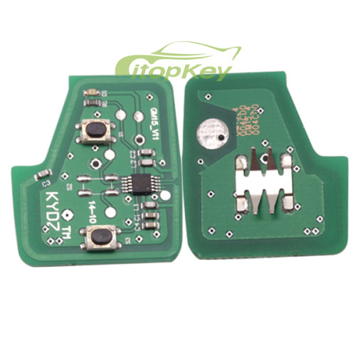 For Chevrolet 2 button remote key with 434mhz