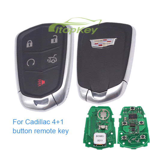For Cadillac smart keyless 4+1 button remote key with 315mhz