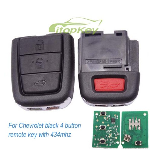 2+1 Button remote key with 434mhz