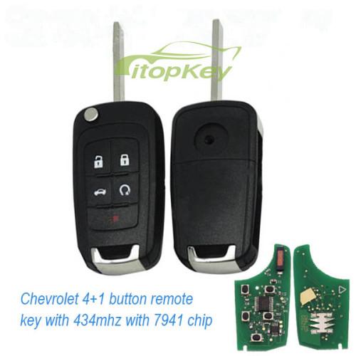 For Chevrolet unkeyless 4+1B remote 7941-315mhz/434mhz