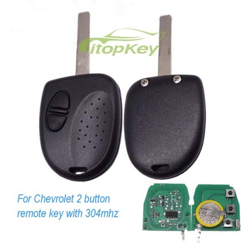 For Chevrolet 2 button remote key with 304mhz