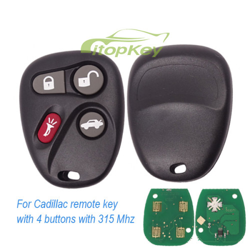 For Cadillac remote key with 4 buttons with 315 Mhz