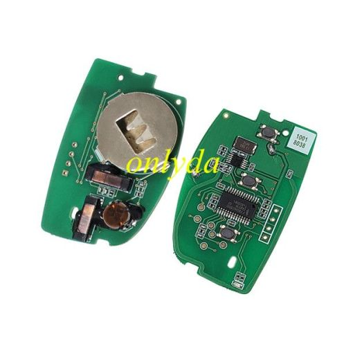 Keyless Smart 3 button remote key with PCF7945/7953 chip (HITAG2) with 433mhz