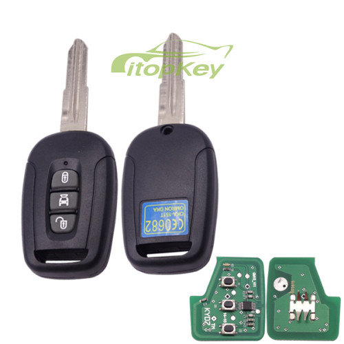 For Chevrolet 3 button remote key with 434mhz