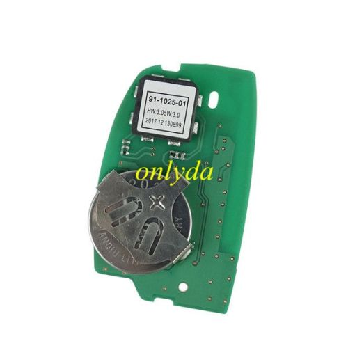 Keyless Smart 3 button remote key with Hitag3 47chip 433mhz FSK