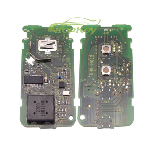 For Fiat keyless 3 button remote key with pcf7952 chip 434mhz