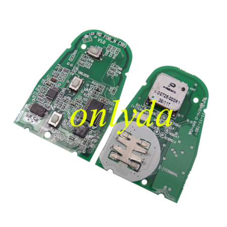3 Button remote Toy H key 2013+ P0/P1/P2/P3/lock MRF2678Q1 with 433MHz