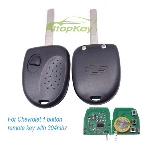 For Chevrolet 1 button remote key with 304mhz