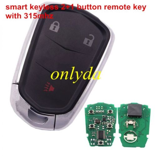 Smart keyless 2+1 button remote key with 315mhz
