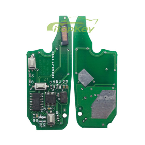 For Fiat Delphi BSI 3 button remote key With PCF7946AT Chip and 433.92Mhz Transponder: ID46 – PCF7946 Philips Crypto 2 / Hitag2 (Blue)