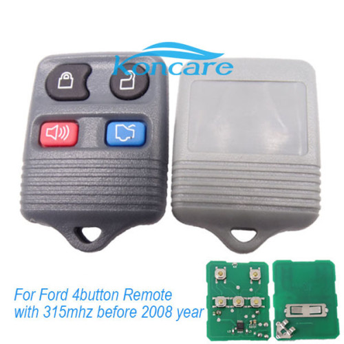 For Ford 4button Remote control old style before 2008 year (Gray)