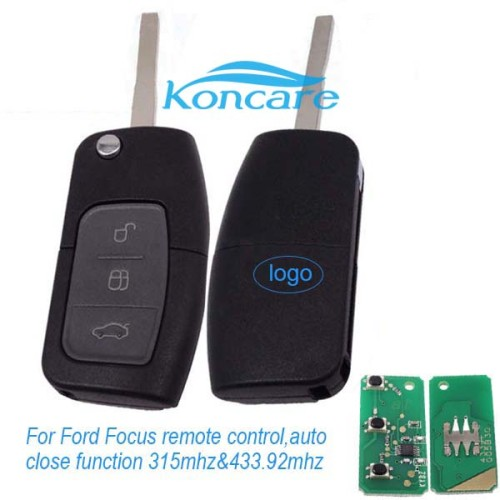For Ford Focus flip remote control with auto close function ford windows autoclose remote with 315mhz and 434mhz
