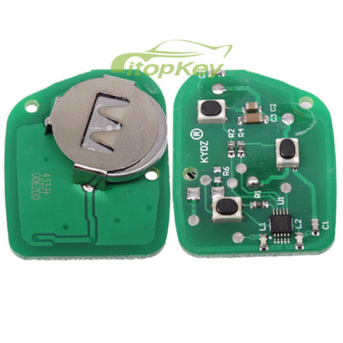 For FORD Mondeo 4D Remote key 4D60 Glass chip 3 Button with 315mhz and 434mhz