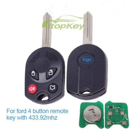 For ford 4 button remote key with 434mhz