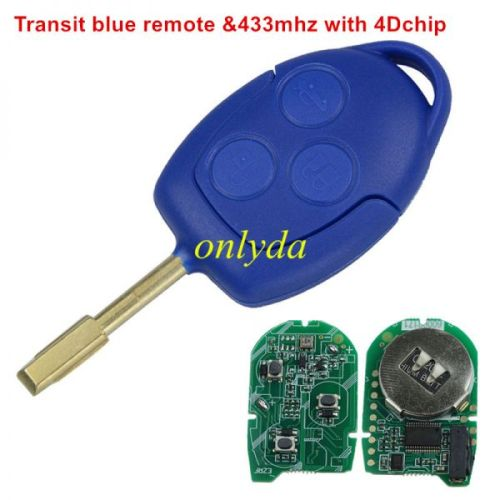 Original 3+1 button remote key with 434MHZ with 7945 chip