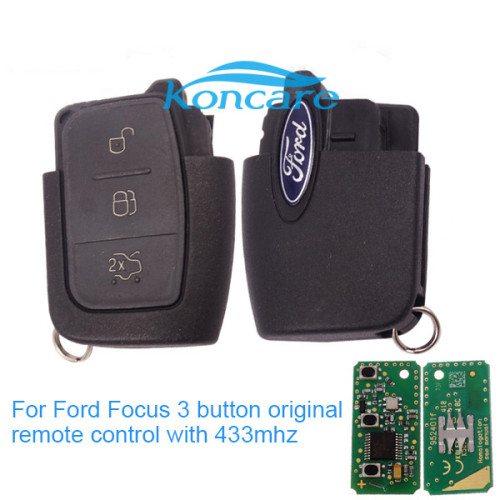 For Ford Focus 3 button original remote control with 433mhz