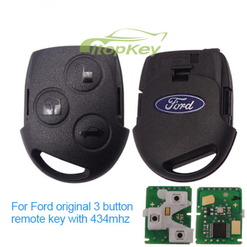 For Ford original 3 button remote key with 434mhz ,4D63 chip FCCID:KR55WK47899