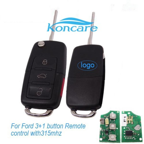 For Ford 3+1 button Remote control (genuine FORD transponder key and remote are separated, now we change into  VW style remote