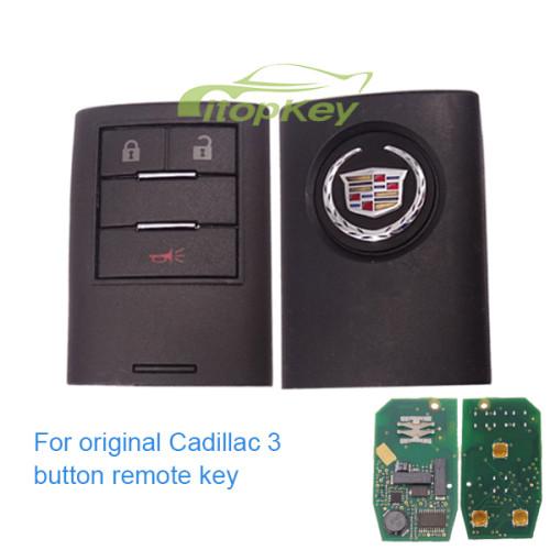 For original Cadillac 3 button remote key