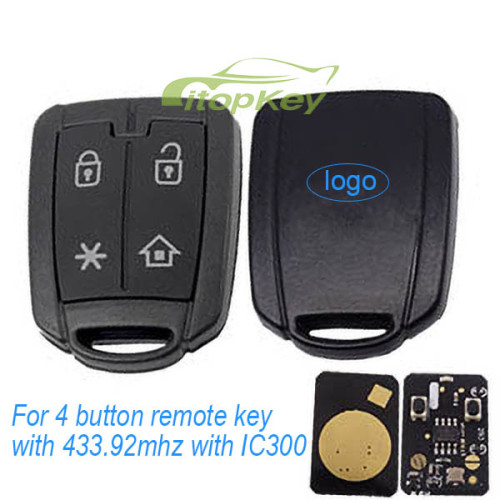 For 4 button remote key with 433mhz with IC300