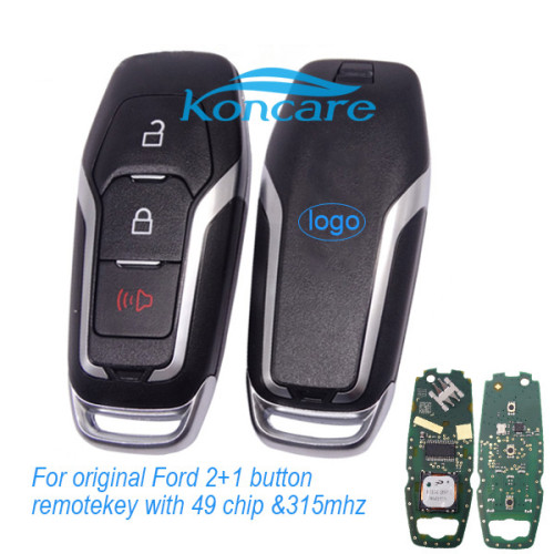 For original Ford 2+1 button remote key with 49 chip with 315mhz