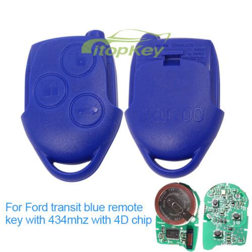 For original Ford transit blue remote 434mhz 4D chip 3B