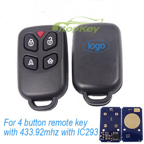 For 4 button remote key with 433mhz with IC293