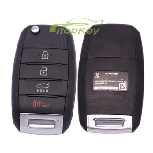 For KIA K3 original keyless 4 button remote key with 434mh