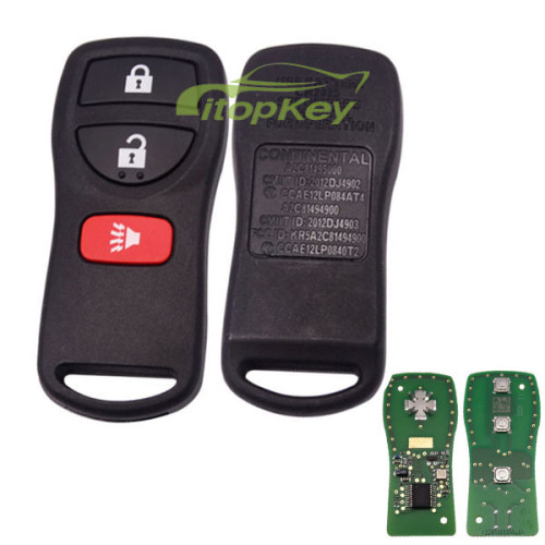 For Original Nissan 2+1 button remote key with 315mhz A2C81495000 CMIT ID: 2012DJ4902 CCAE: 12LP084AT4 A2C81494900 CMIIT ID:2012DJ4903 FCCID : KR5A2C81494900 CCAE12LLP0840T2 ch