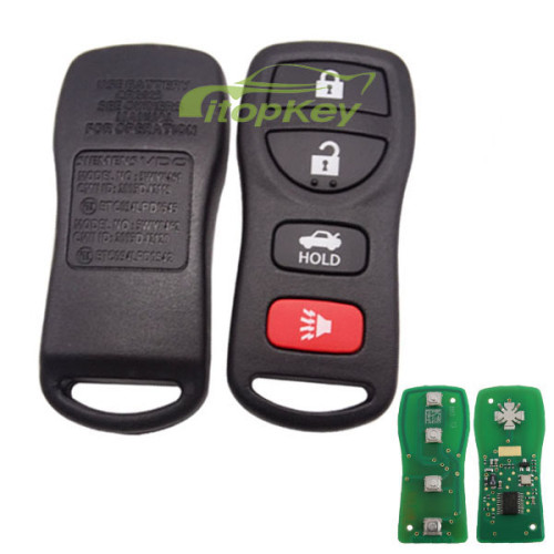 For Original Nissan 3+1 button remote key with 315mhz A2C81495000 CMIT ID: 2012DJ4902 CCAE: 12LP084AT4 A2C81494900 CMIIT ID:2012DJ4903 FCCID : KR5A2C81494900 CCAE12LLP0840T2 chi