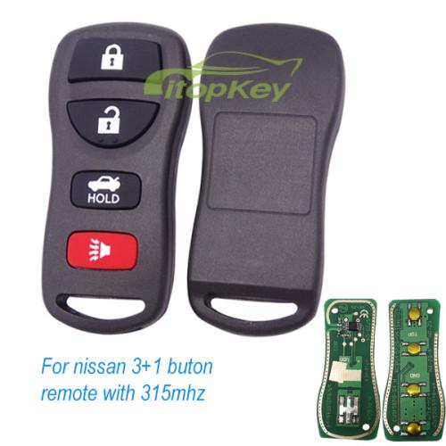For nissan 3+1 buton remote with 315mhz NIS012 KBRASTUIS FCCID=KBRASTUIS