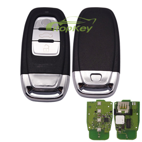 For Audi keyless 3 button remote key with 434mhz/868MHZ For Audi A6, A8, Q3,Q5,Q7, only your remote key is like this, all remote key can use